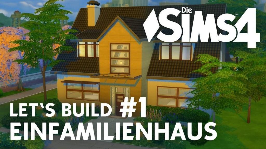 Die Sims 4 Let's Build Einfamilienhaus 1  Haus Bauen  Eingang von Sims 4 Häuser Zum Nachbauen Photo