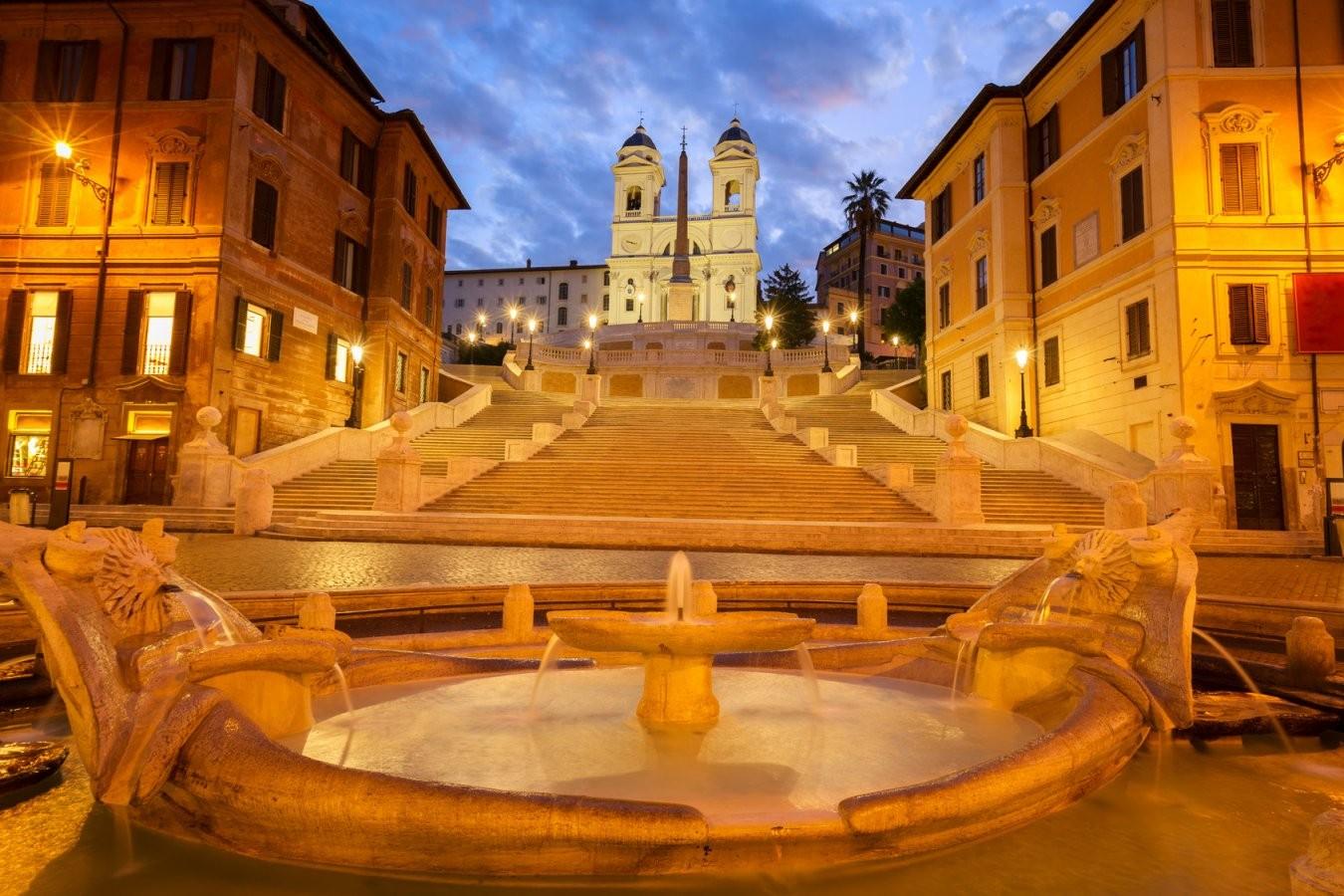Die Spanische Treppe In Rom  Fe Reisetouristik Gmbh von Webcam Rom Spanische Treppe Photo