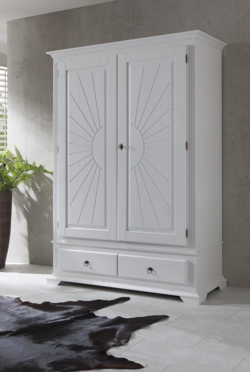 Dielenschrank Kleiderschrank Garderobenschrank Landhausstil Kiefer von Kleiderschrank Weiß Landhausstil Günstig Bild