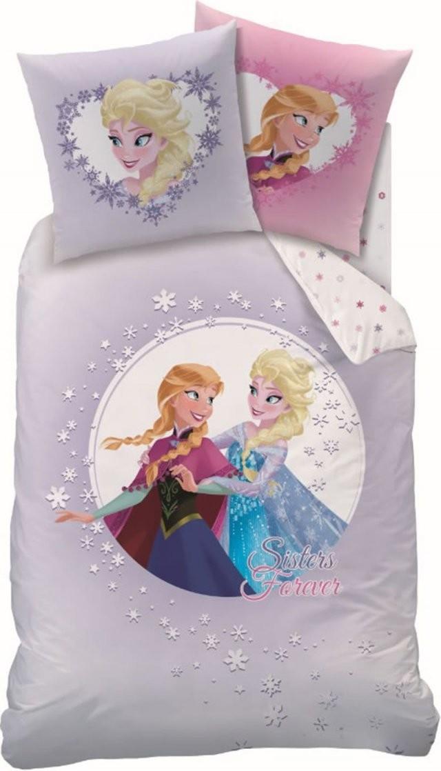 Disney Die Eiskönigin  Frozen Biberbettwäsche Sisters Forever von Anna Und Elsa Bettwäsche Biber Bild