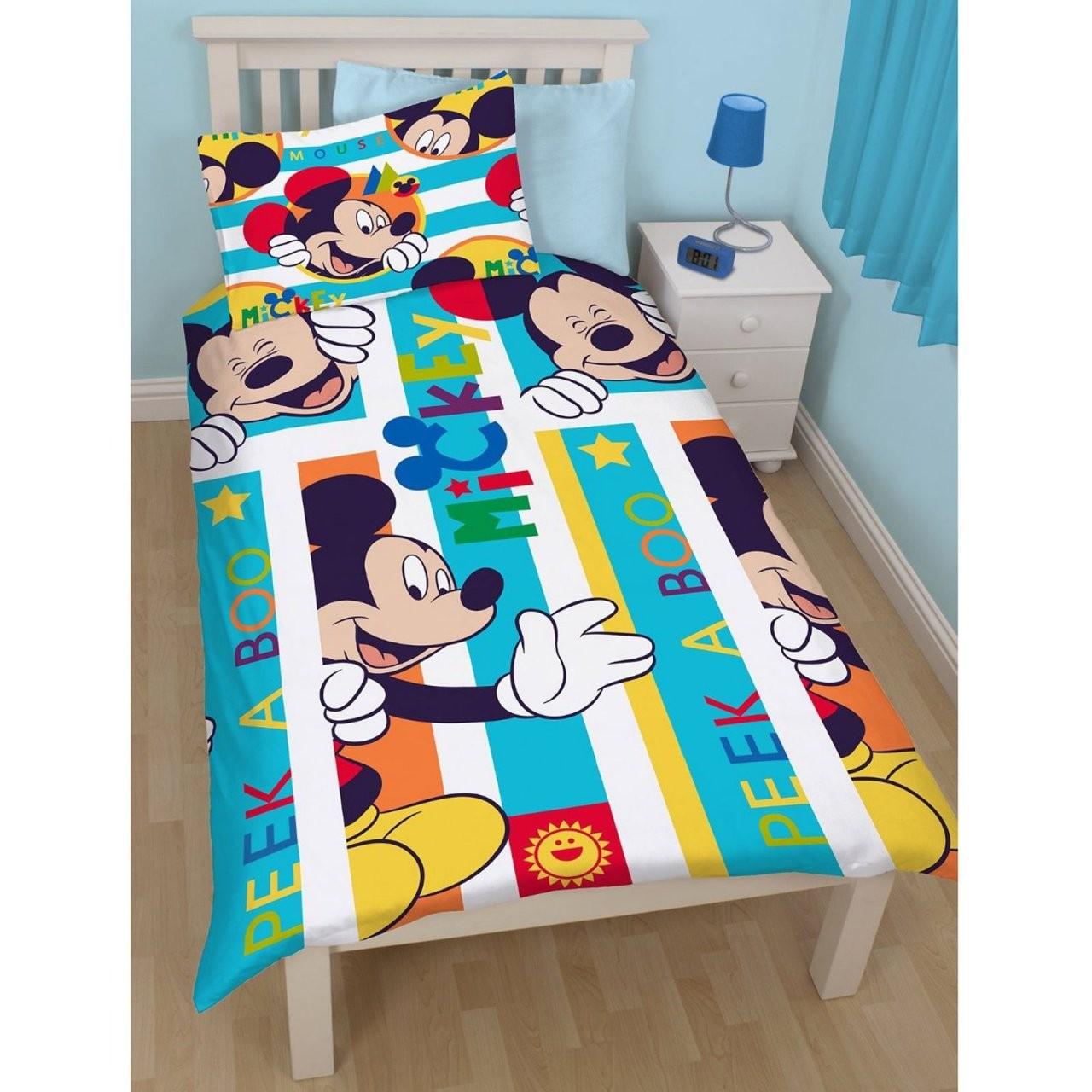 Disney Mickey  Minnie Mouse Einzeln Junior Bettbezug Sets Kinder von Micky Und Minni Maus Bettwäsche Photo