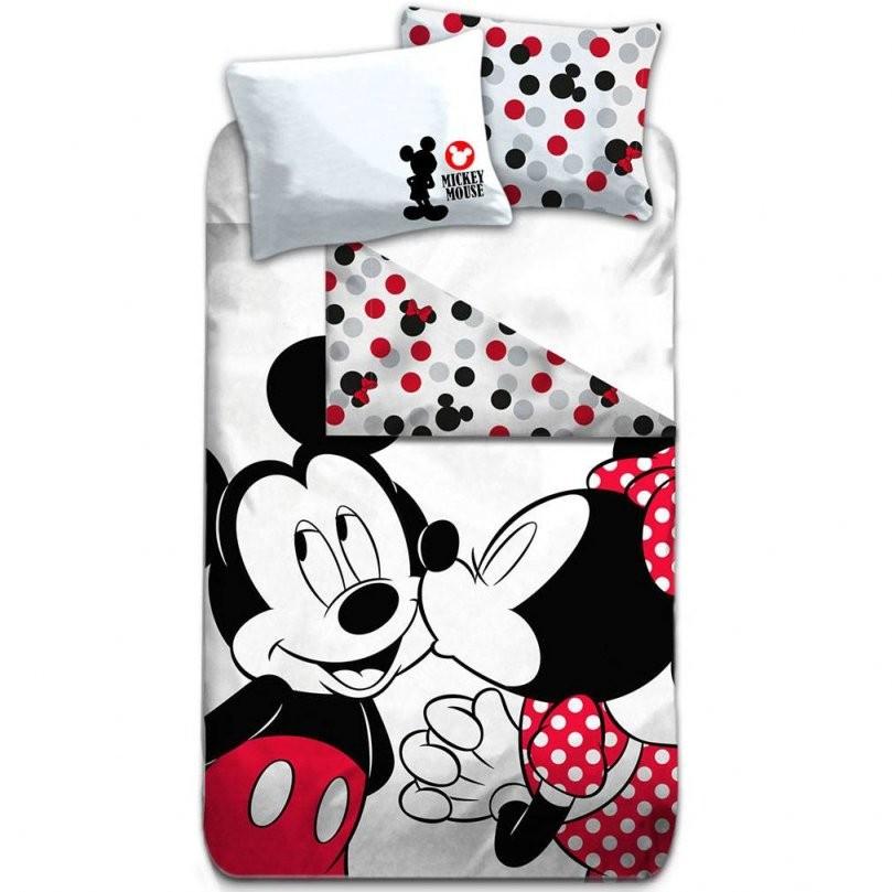 Disney Mickey Mouse Bettbezug Kiss Baumwolle 140X20 + 65X65Cm von Micky Und Minni Bettwäsche Bild