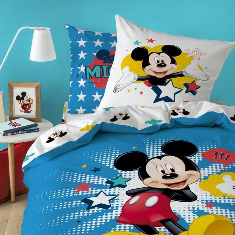 Disney Micky Maus Bettwäsche 80X80 + 135X200 Cm · Kinderbettwäsche Mickey  Mouse Star  100% Baumwolle von Micky Maus Partner Bettwäsche Bild