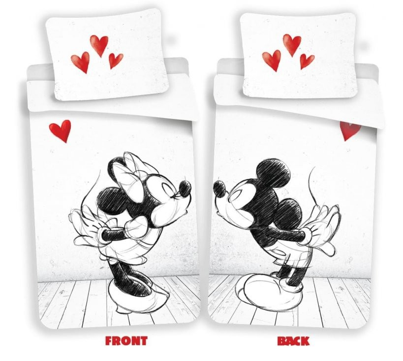 Disney Minnie Maus In Love Partner Bettwäsche Kopfkissen Bettdecke Micky  140X200 Cm von Micky Maus Partner Bettwäsche Photo