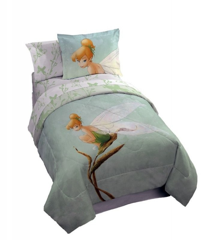 Disney Tinkerbell Tink Watercolor Full Size Bedding Set  7Pcs Bed von Tinker Bell Bed Sets Bild