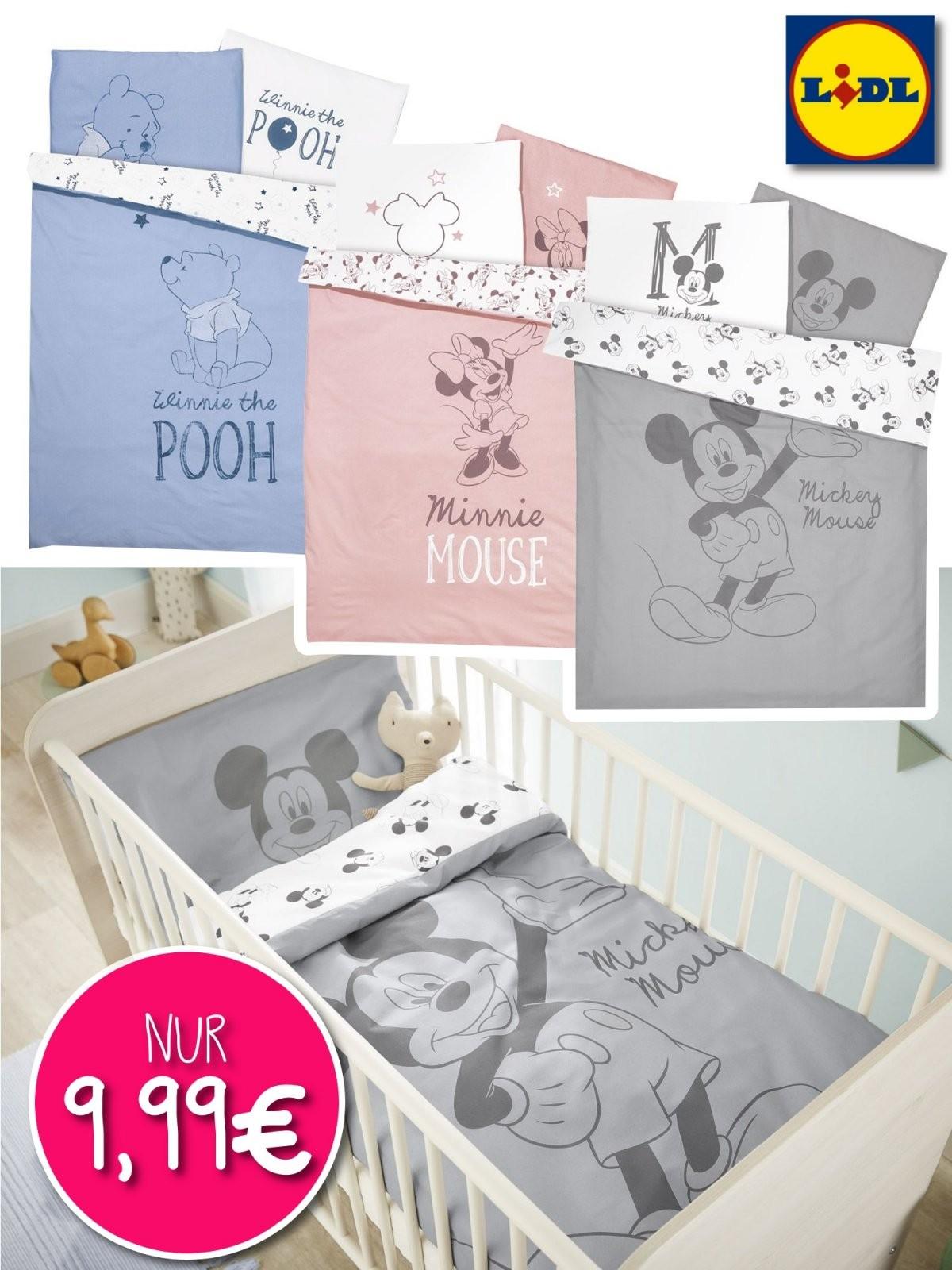 Disneybettwäsche Bei Lidl  Nur Online  Meinbaby123 von Baby Bettwäsche Mickey Mouse Photo