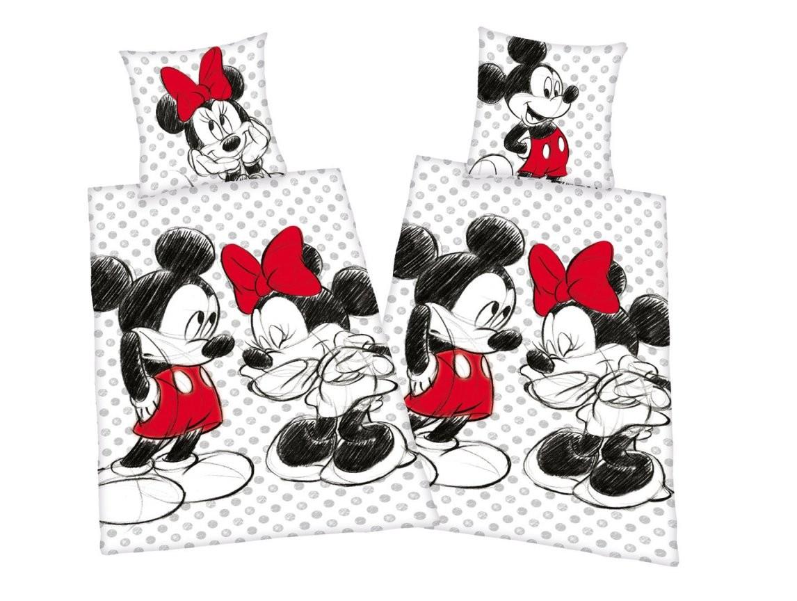 Disneys Mickey  Minnie Mouse Partner Bettwäsche 80X80 135X200Cm von Partner Bettwäsche Mickey Mouse Und Minnie Mouse Bild