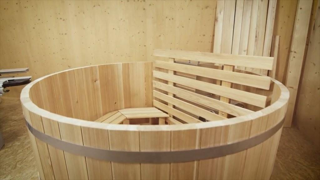 Diy Badefass Aus Holz Produzieren Mit Felder von Whirlpool Selber Bauen Holz Photo