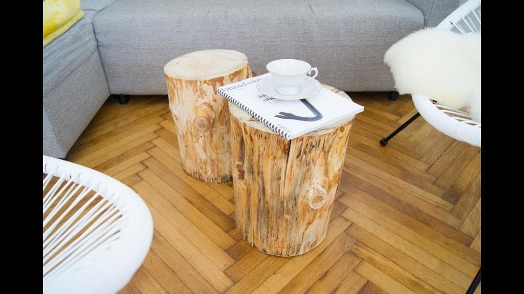 Diy Baumstamm Couchtische Selber Machen  Wood Coffee Table  Youtube von Tisch Aus Baumstamm Selber Machen Photo