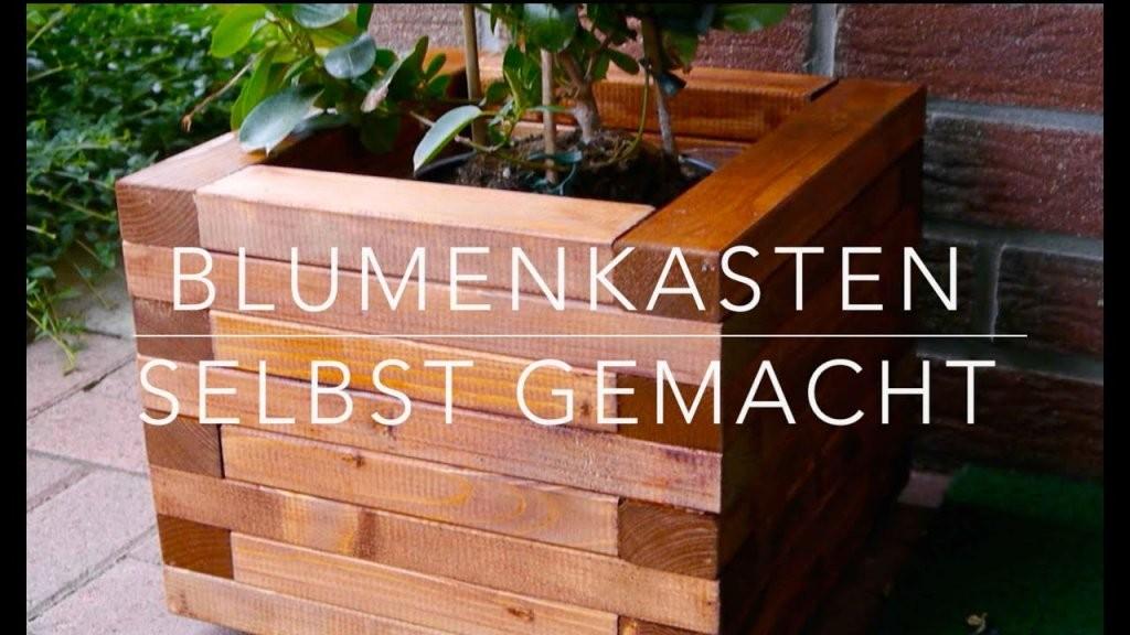 Diy Blumenkasten Aus Holz Kinderleicht Bauen  Youtube von Pflanzkübel Aus Holz Selber Bauen Bild