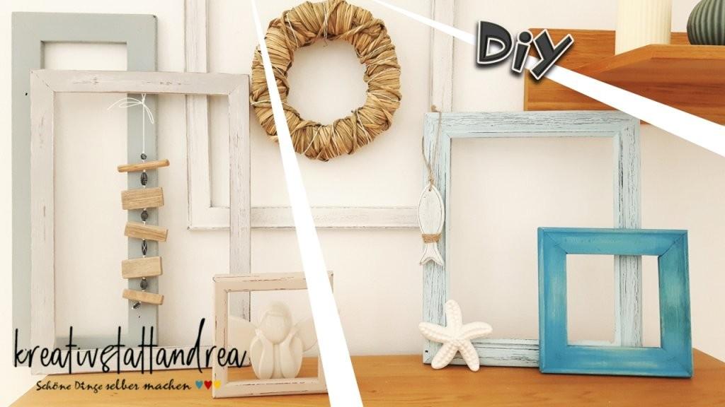 Diy – Deko Bilderrahmen Shabby Chic  Landhausstil von Deko Landhausstil Selber Machen Bild