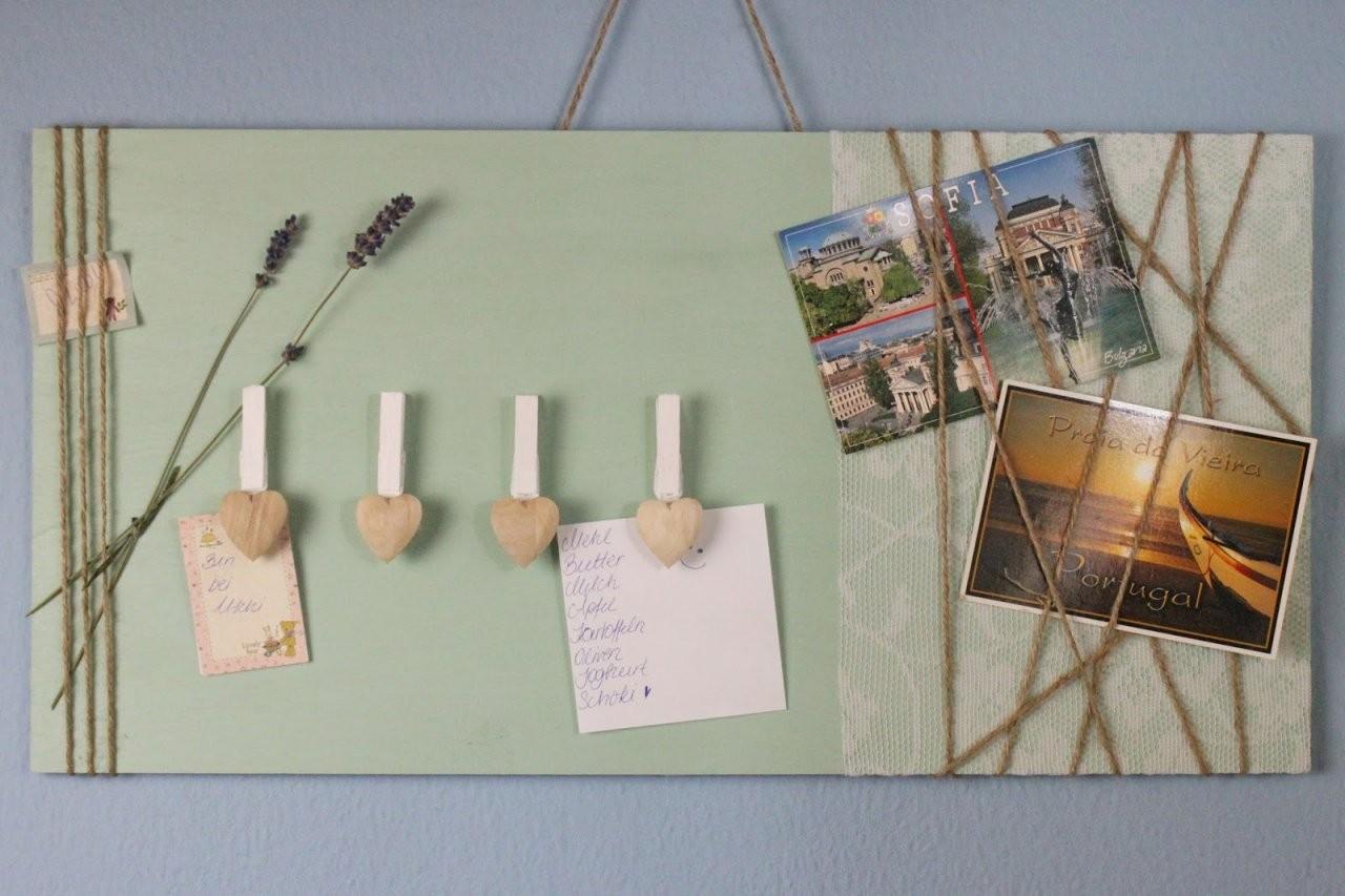 Diy Deko Für Die Wand  Memoboard Selber Machen  Jamblog von Fotowand Selber Machen Stoff Bild