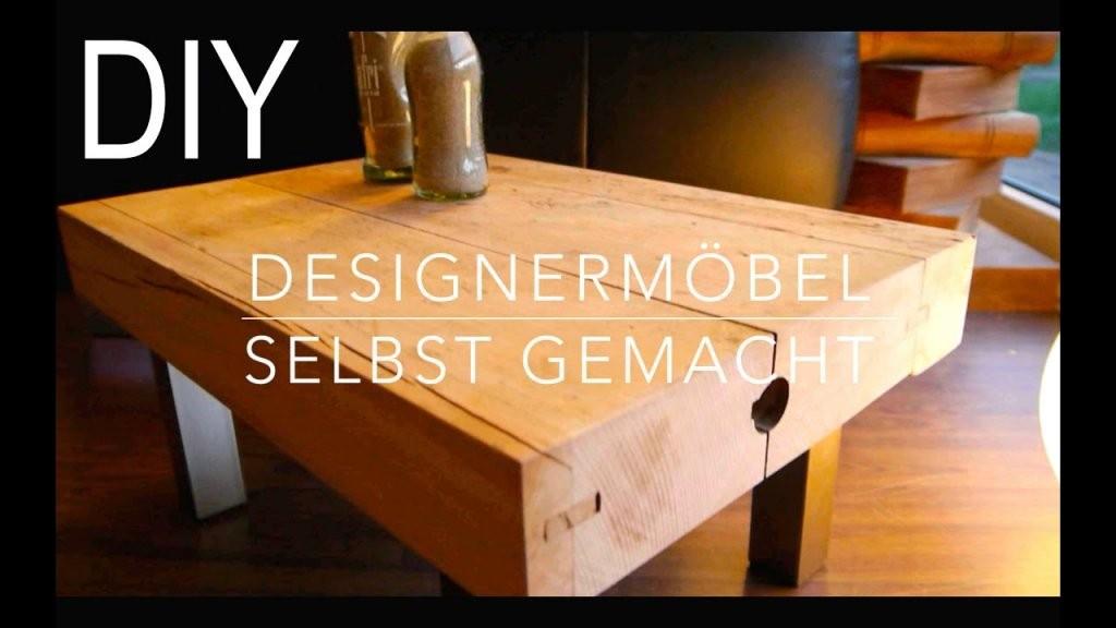 Diy Designer Tisch Hocker Selber Bauen  Anleitung  Youtube von Barhocker Holz Selber Bauen Photo