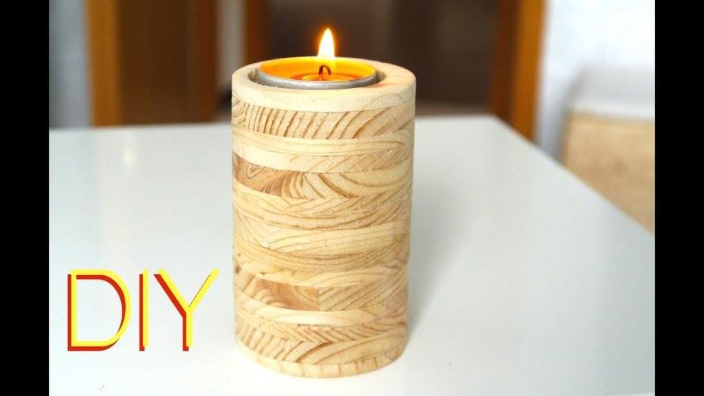 Diy ☆ Kerzenständer Aus Holz Anleitung  Youtube von Holz Kerzenständer Selber Machen Photo