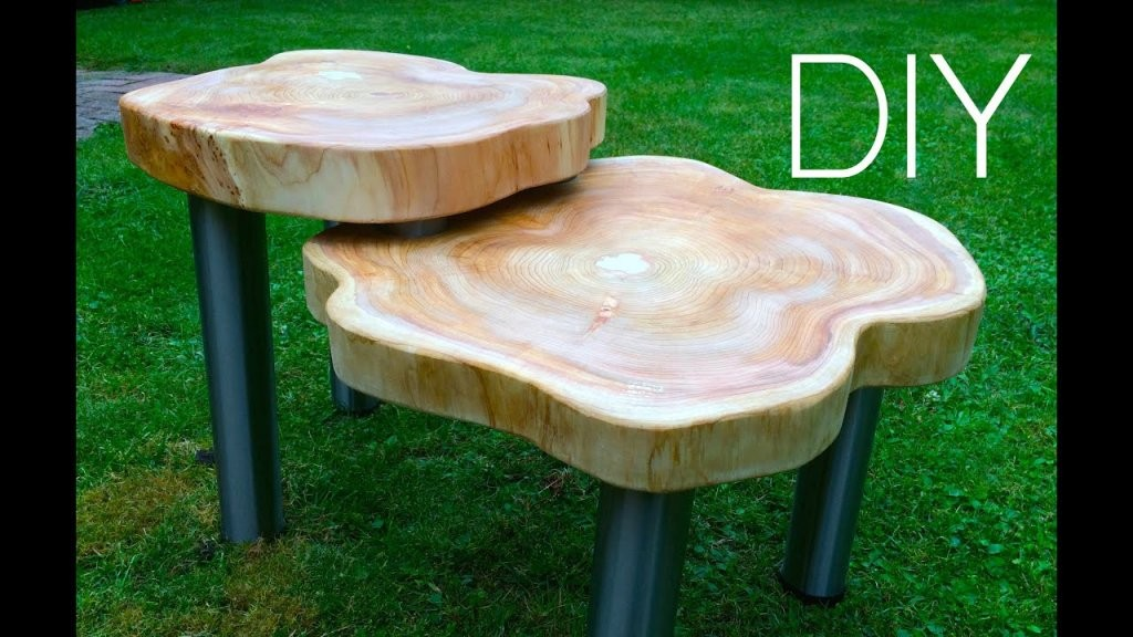 Diy ☆ Wood Table Designer Tisch Anleitung  Youtube von Tisch Aus Baumstamm Selber Machen Bild