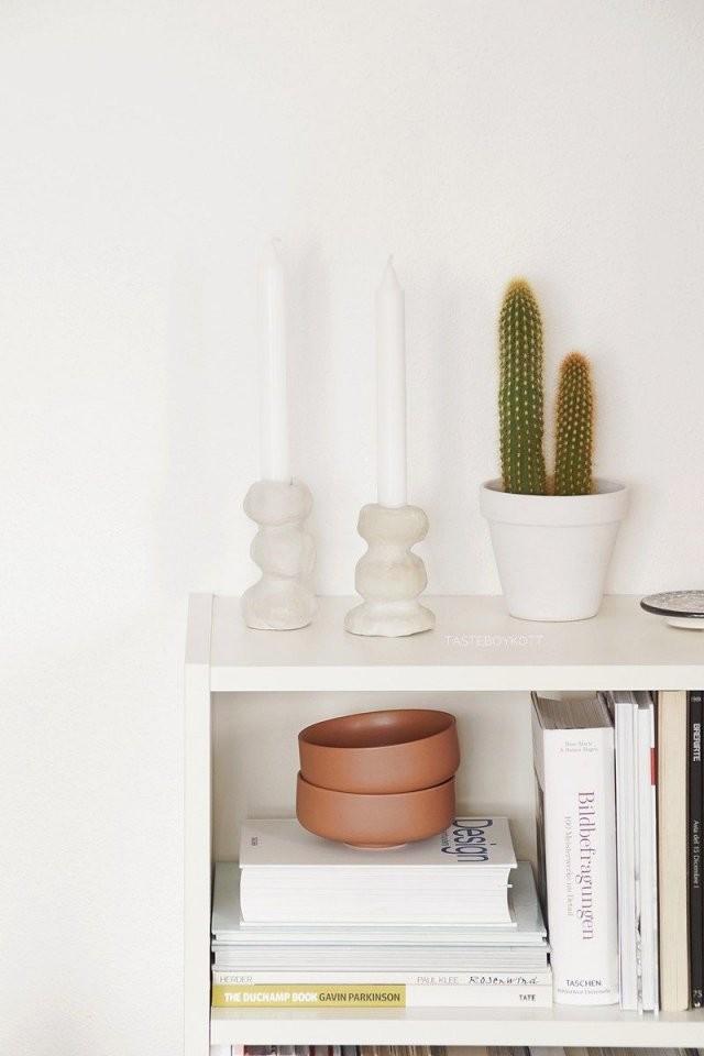 Diy Einfache Kerzenständer Aus Ton Selbermachen  Meine Diy von Günstige Wohnideen Zum Selber Machen Bild