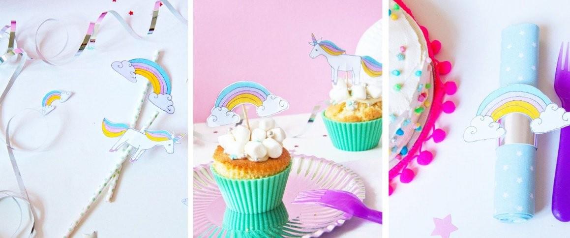 Diy  Einhorndeko Für Den Kindergeburtstag  Unicorn Magic von Tischdeko Kindergeburtstag Selber Basteln Bild