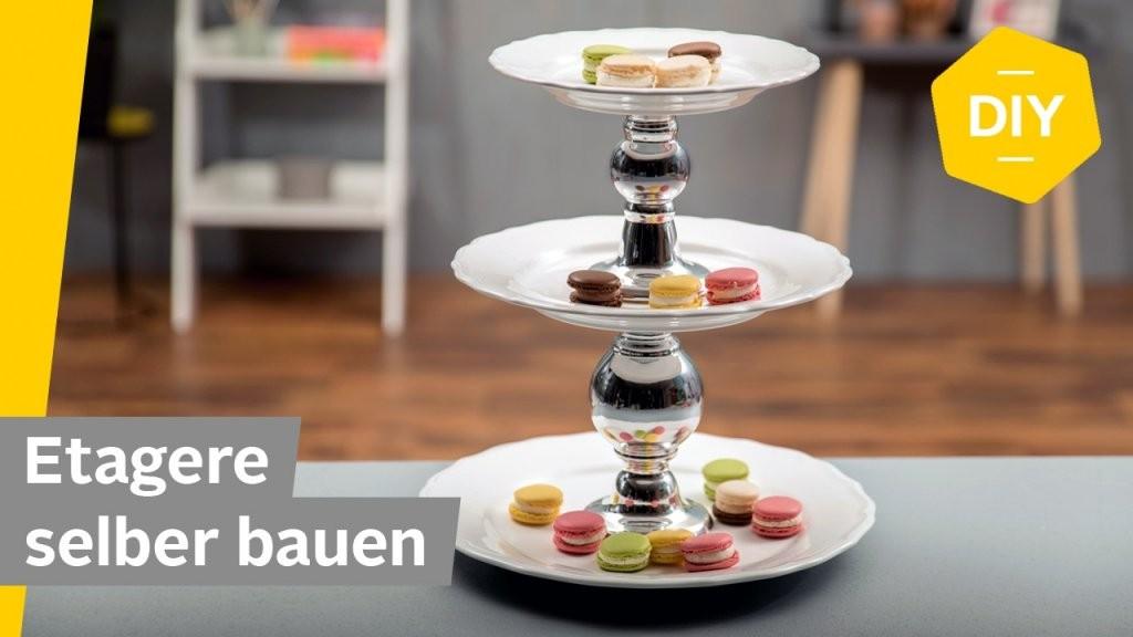 Diy Etagere Selber Machen Mit Tellern – Super Einfach Ohne Bohren von Etagere Selber Bauen Anleitung Photo