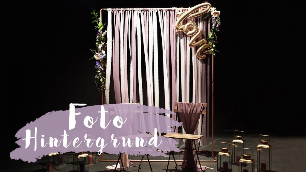 Diy Fotohintergrund Für Hochzeiten  Foto Backdrop  Eileena Ley von Fotowand Hochzeit Selber Machen Bild