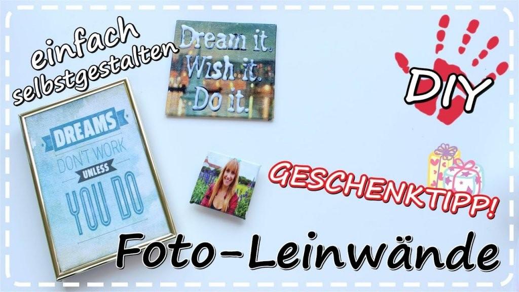 Diy Fotoleinwand Selbermachen Mit Transfer Potch  Geschenkideen von Fotocollage Auf Leinwand Selber Machen Bild