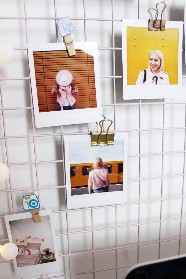 Diy Fotowand Selber Machen  Schreibtisch Deko Basteln von Schreibtisch Deko Selber Machen Photo
