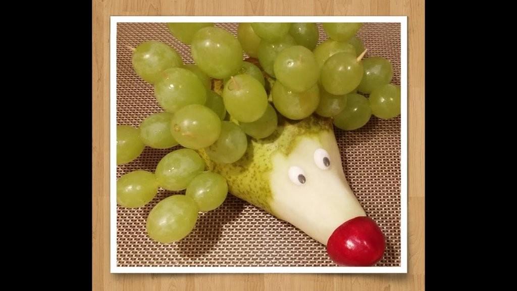 Diy Funny Food Obstdeko Aus Birne Wird Igel  Misskitchenpage  Youtube von Obst Deko Für Kindergeburtstag Photo