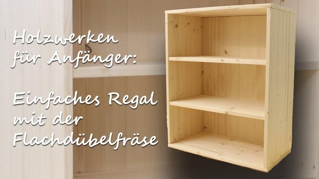 Diy Handwerken Holz Für Anfänger Simples Regal Mit Der von Cd Regal Holz Selber Bauen Bild