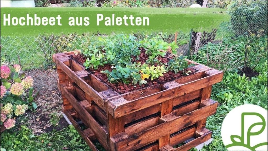Diy Hochbeet Aus Paletten Selber Bauen (Anleitung)  Youtube von Hochbeet Europaletten Selber Bauen Photo