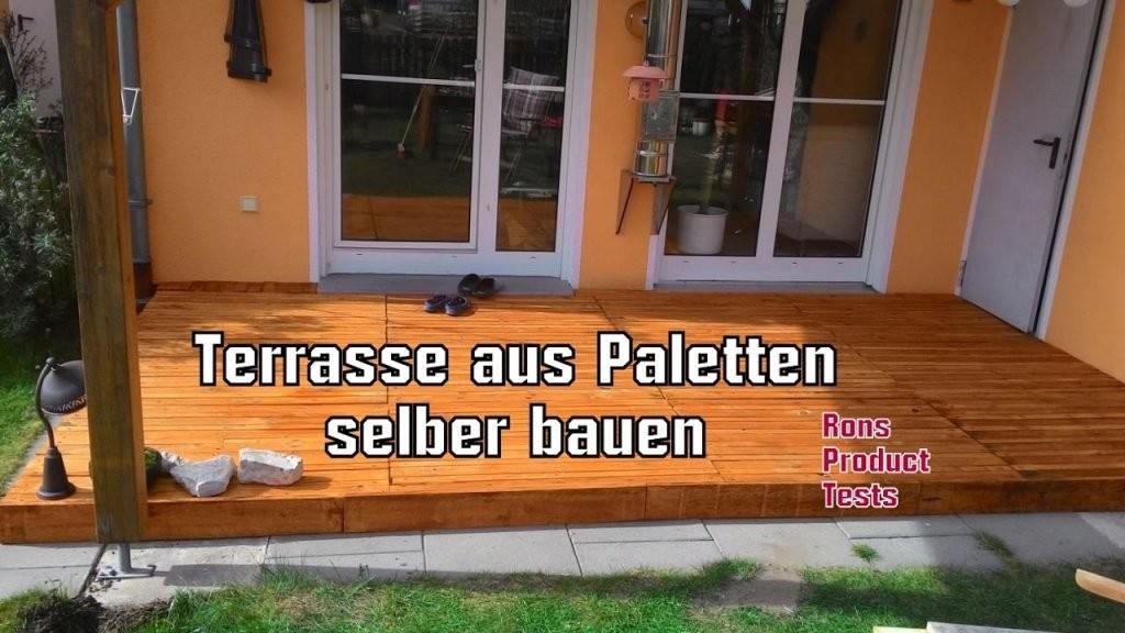 Diy Holz Terrasse Aus Paletten Selber Bauen  Schritt Für Schritt von Terrasse Selber Bauen Aus Paletten Photo
