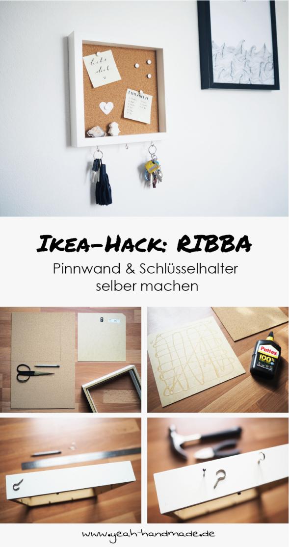 Diy Ikea Hack Ribba Pinnwand Mit Schlüsselhalter  Home  Ikea von Ikea Bilderrahmen Ribba Aufhängen Photo