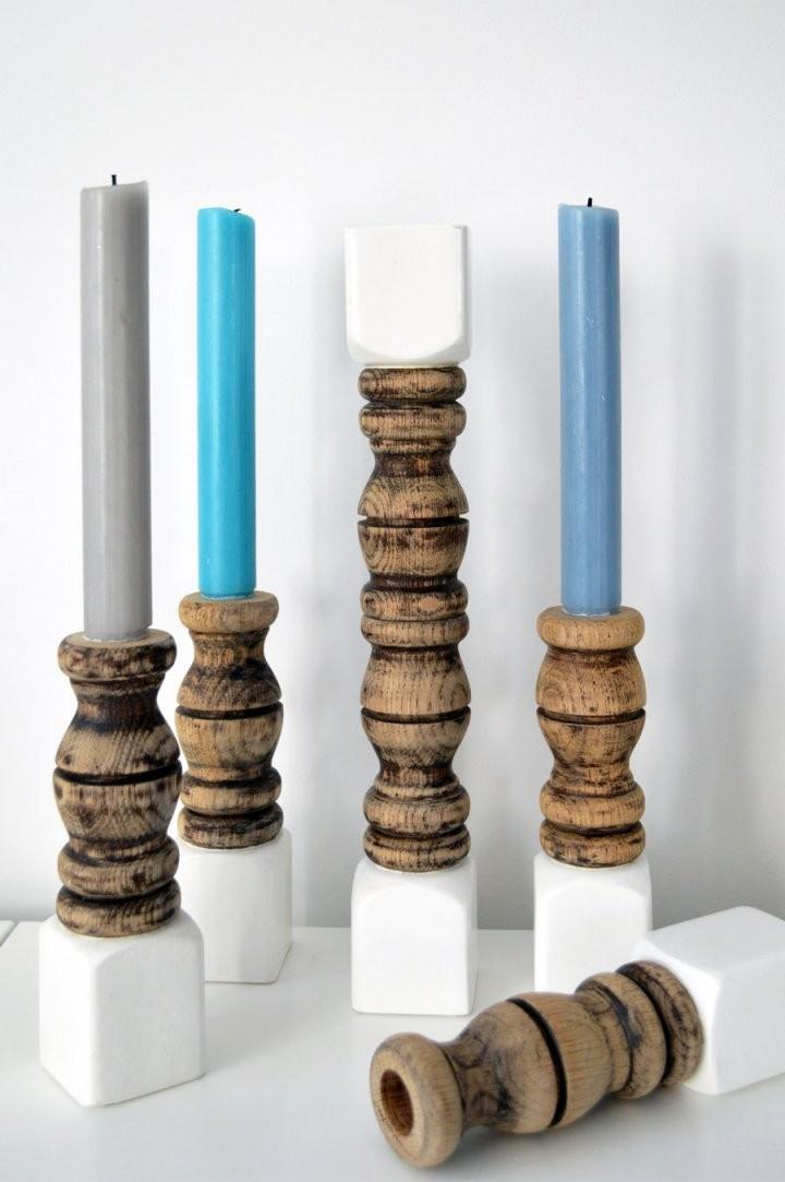 Diy  Kerzenständer Aus Holz Selber Machen von Holz Kerzenständer Selber Machen Bild