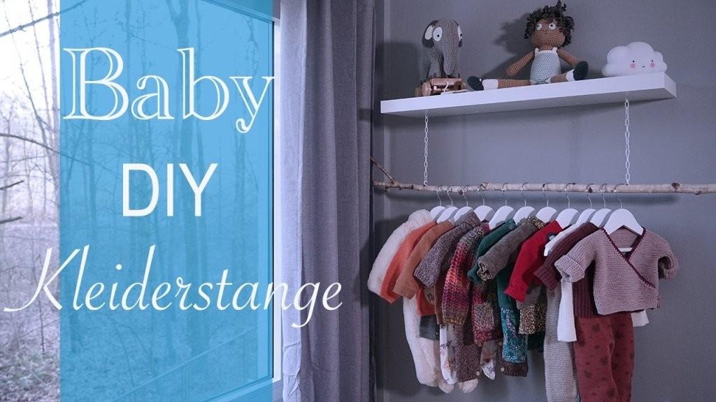 Diy Kleiderstange  Selber Bauen  Kinderzimmer Ideen  Youtube von Kleider Regal Selber Bauen Bild
