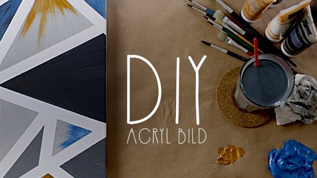 Diy  Kreatives Acryl Bild Selbst Gestalten  Unartig  Youtube von Kreative Bilder Selbst Gestalten Photo