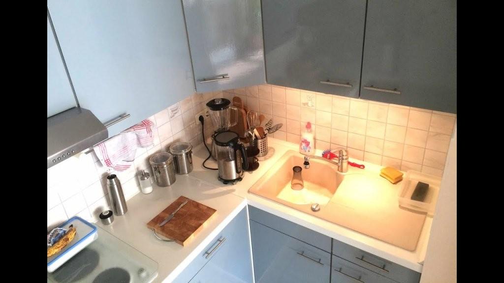 Diy Küche Neu Lackieren Unter 50€ Anleitung Schritt Für Schritt von Küchenmöbel Streichen Vorher Nachher Bild
