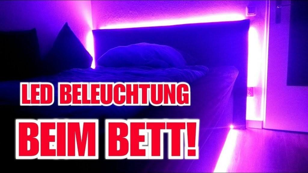 Diy Led Beleuchtung Beim Bett Selber Machen Itsstevee Youtube Bett von Bild Mit Beleuchtung Selber Machen Bild