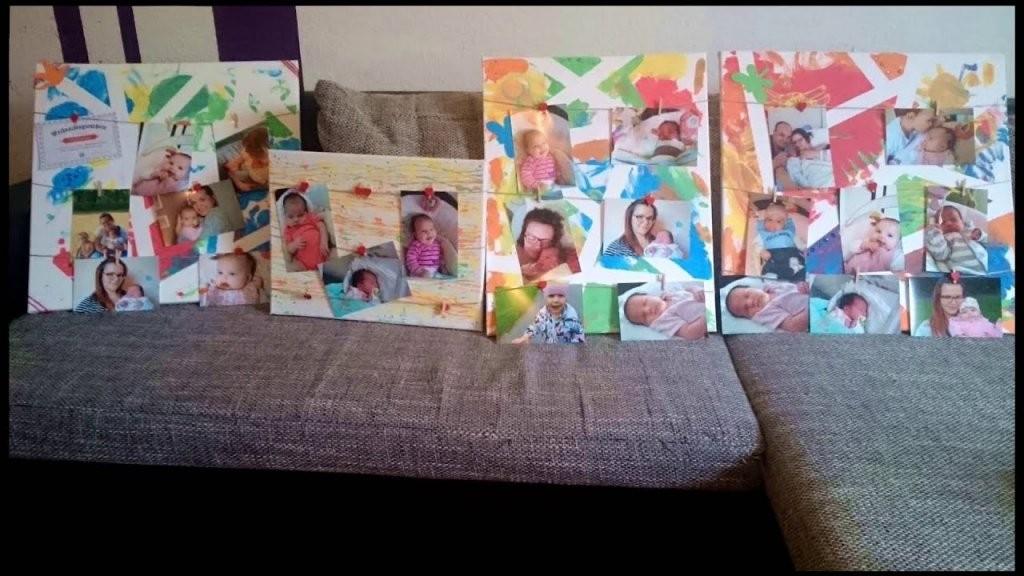 Diy  Mein Kind Malt Auf Leinwänden  Geschenkidee Taniisblog von Leinwand Gestalten Mit Kindern Photo
