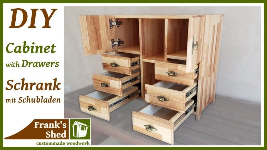 Diy Möbel Selber Bauen  Schrank Mit Schubladen Aus Holz  Anleitung von Möbel Türen Selber Bauen Photo