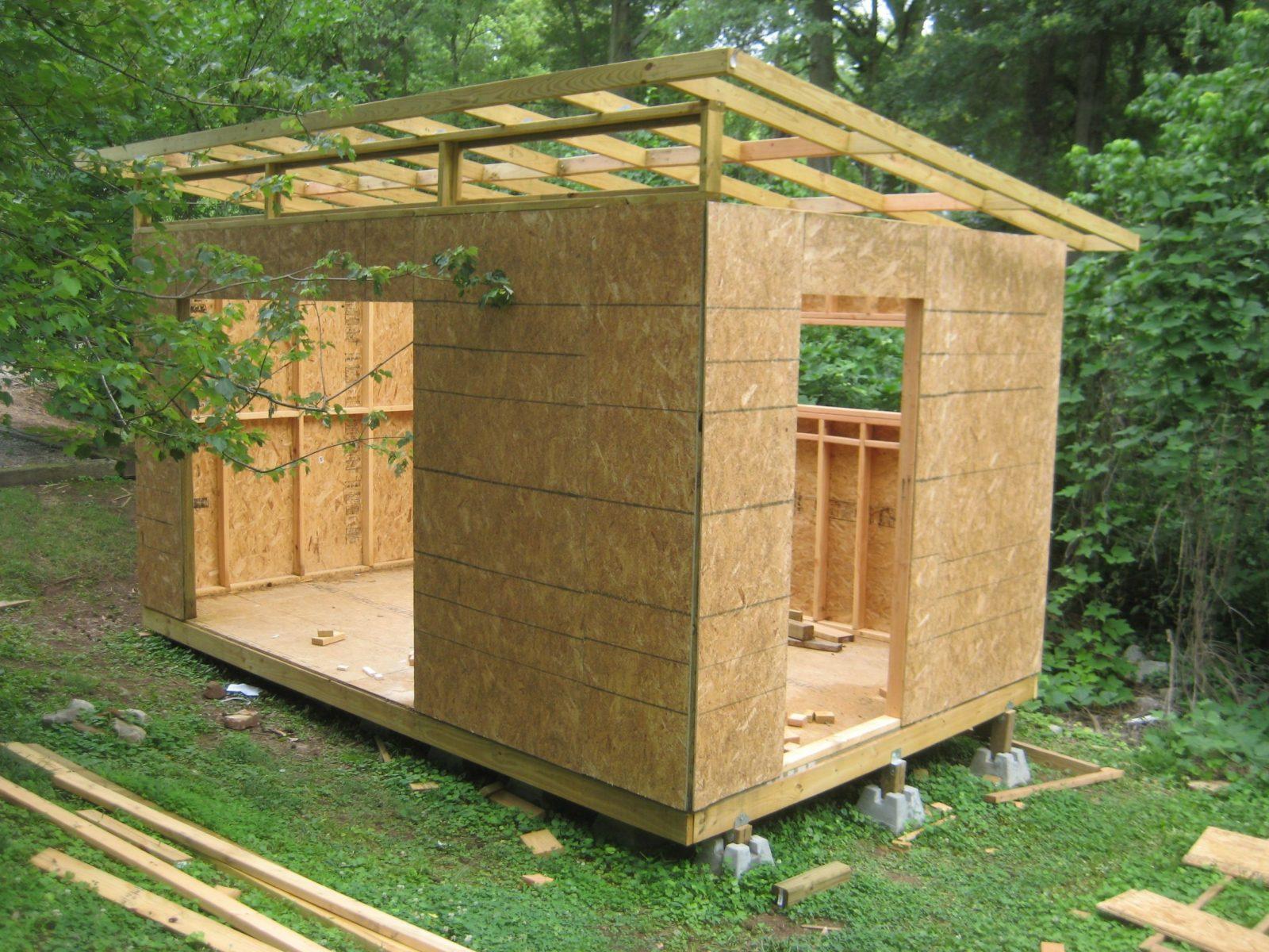 Diy Modern Shed Project  Holz  Gartenhaus Schuppen Ideen Y von Gartenhaus Modern Selber Bauen Bild