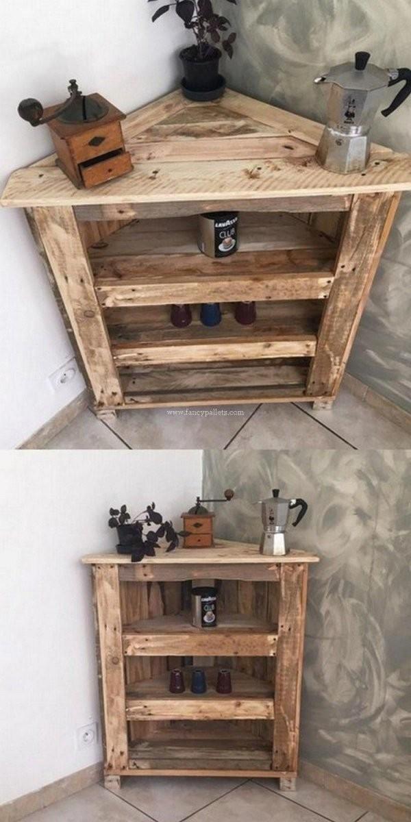 Diy Pallets Corner Cabinet Design  Handwerk In 2019  Holzprojekte von Rustikale Möbel Selber Bauen Bild