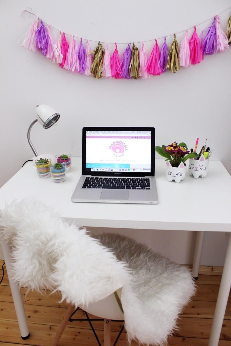 Diy Party Girlande Aus Seidenpapier Selber Machen + Schreibtisch von Zimmer Deko Ideen Selber Machen Bild