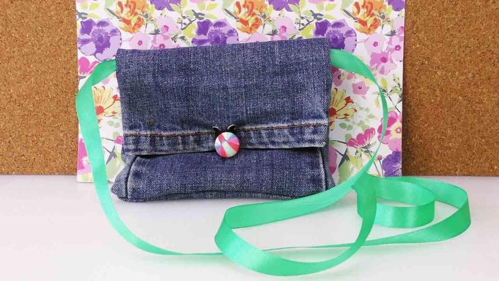 Diy Recycling Jeans  Bag Tasche Portemonnaie Aus Alter Jeanshose von Recycling Ideen Selber Machen Bild