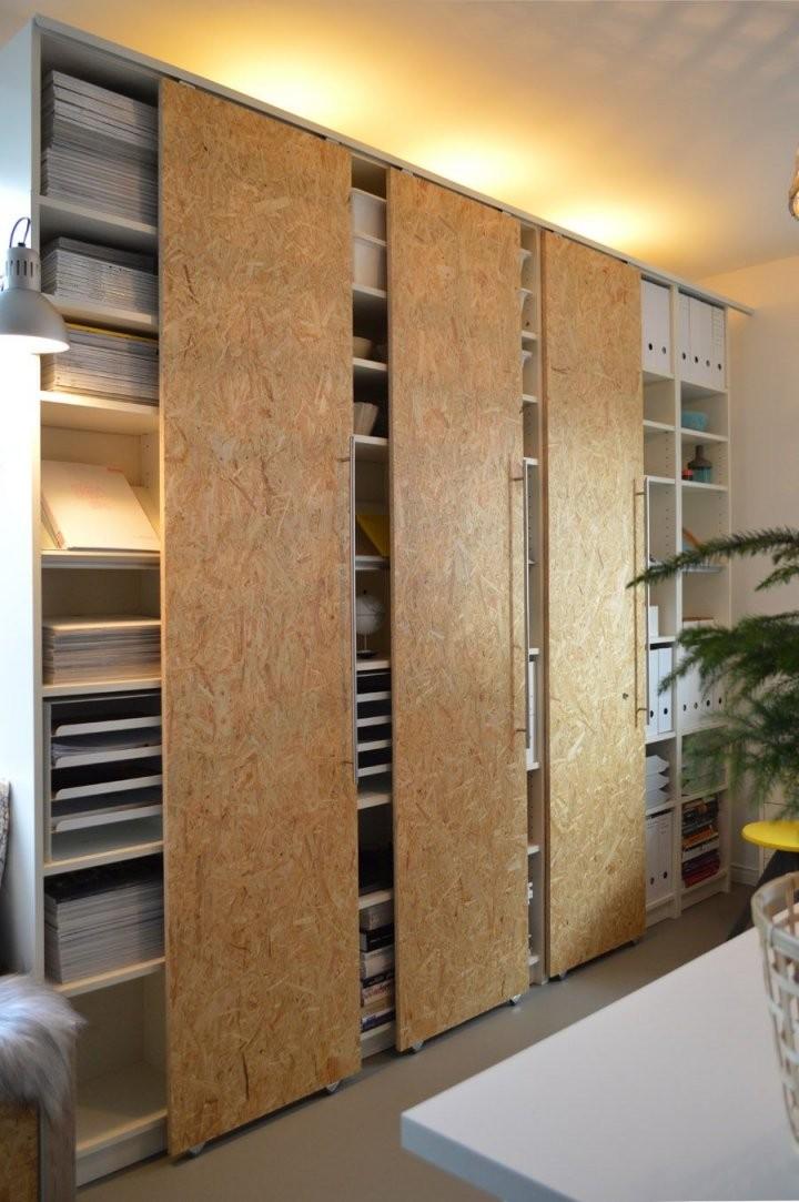 Diy Schiebetüren Selber Machen Ikea Hack Billy (7) …  Garderobe von Wandschrank Selber Bauen Schiebetüren Bild