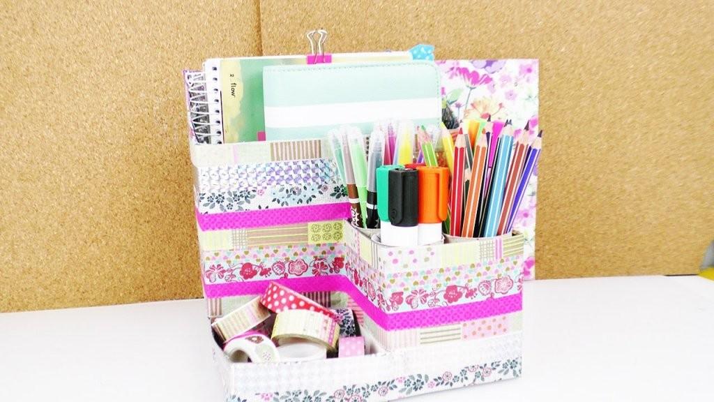 Diy Schreibtisch Aufbewahrung Selber Machen  Aus Alten Verpackungen von Schreibtisch Organizer Selber Machen Photo