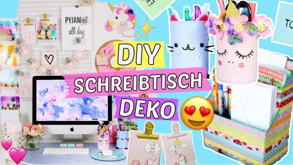 Diy Schreibtisch Makeover 😍 5 Pinterest Deko Diys Selber Machen von Schreibtisch Organizer Selber Machen Bild