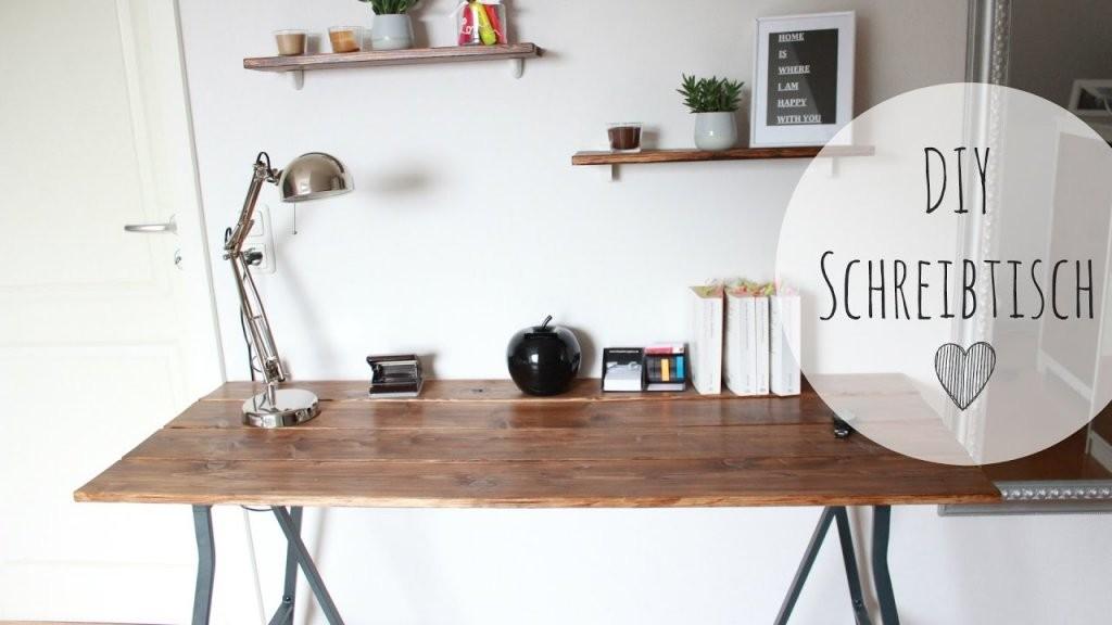 Diy Schreibtisch Rustikal  Schreibtisch Günstig Selber Bauen von Rustikale Möbel Selber Bauen Bild