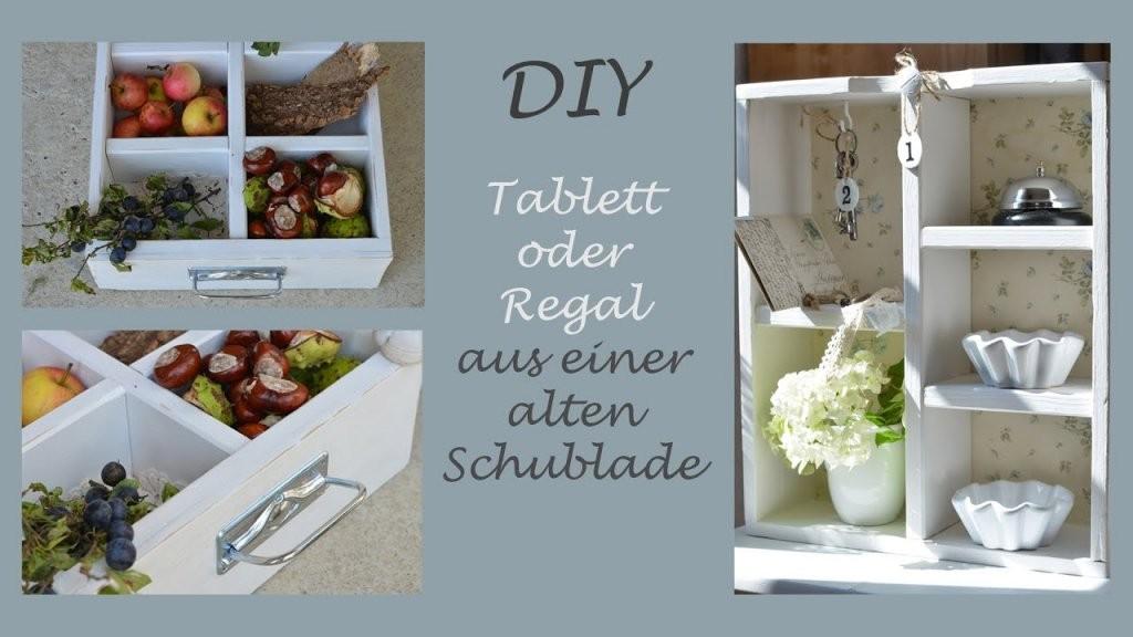 Diy  Tablett Oder Regal Aus Einer Alten Schublade Selber Machen von Upcycling Ideen Zum Selbermachen Bild