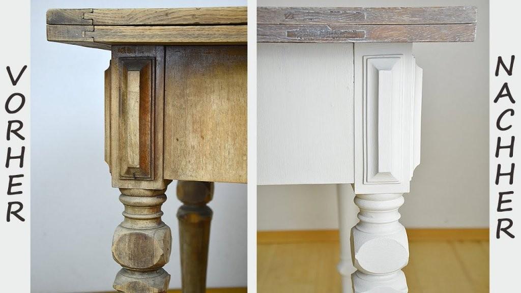Diy  Tisch Im Shabby Chic Stil Streichenwisch Oder Lasurtechnik von Alten Tisch Neu Gestalten Photo
