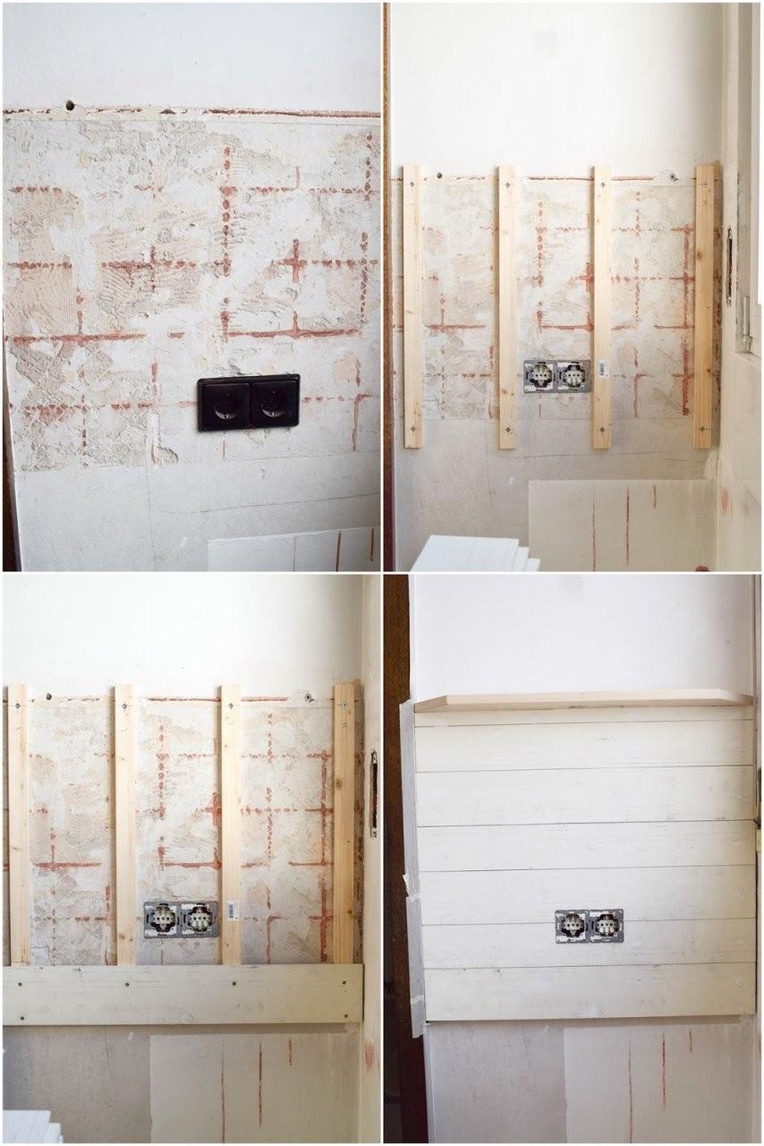 Diy Wandverkleidung Holz Selbermachen Holzvertäfelung von Wandvertäfelung Holz Selber Machen Bild