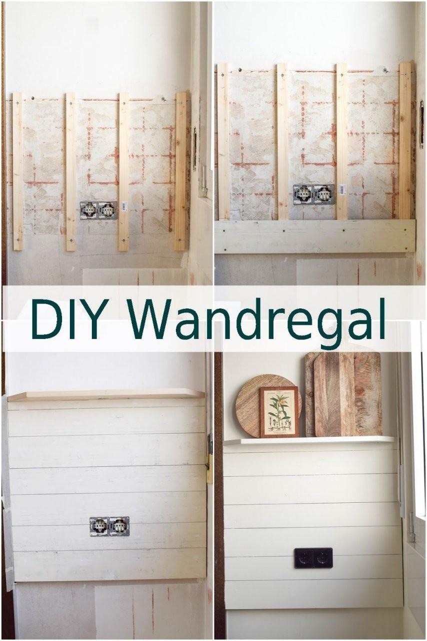 Diy Wandverkleidung Holz Selbermachen Renovierung Küche Landhaus von Wandvertäfelung Holz Selber Machen Bild