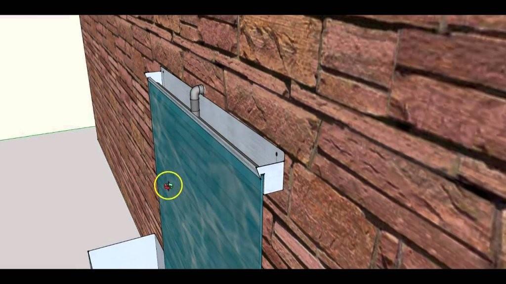 Diy Wasserwand Wasserfall Zimmerbrunnen Selber Bauen  Bauanleitung von Mauer Wasserfall Selber Bauen Bild